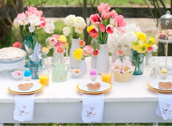 table de mariage mariage theme paques