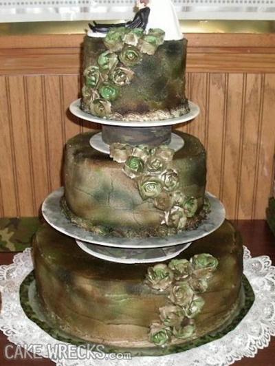 gateau de mariage vert