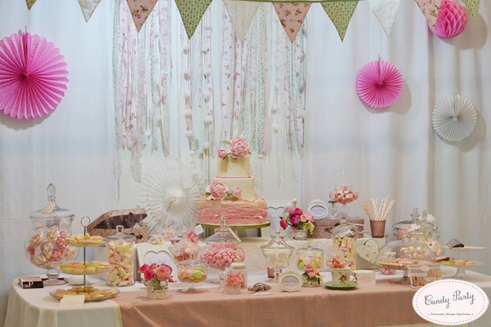jolie sweet table mariage shabby chic  (1)