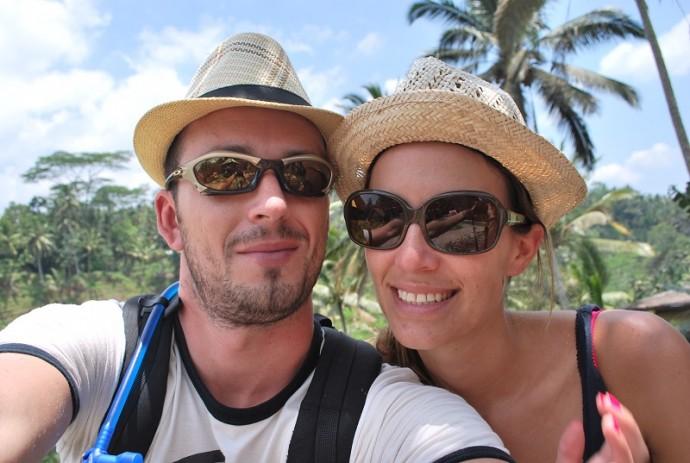 laure et son amoureux en voyage de noces a bali