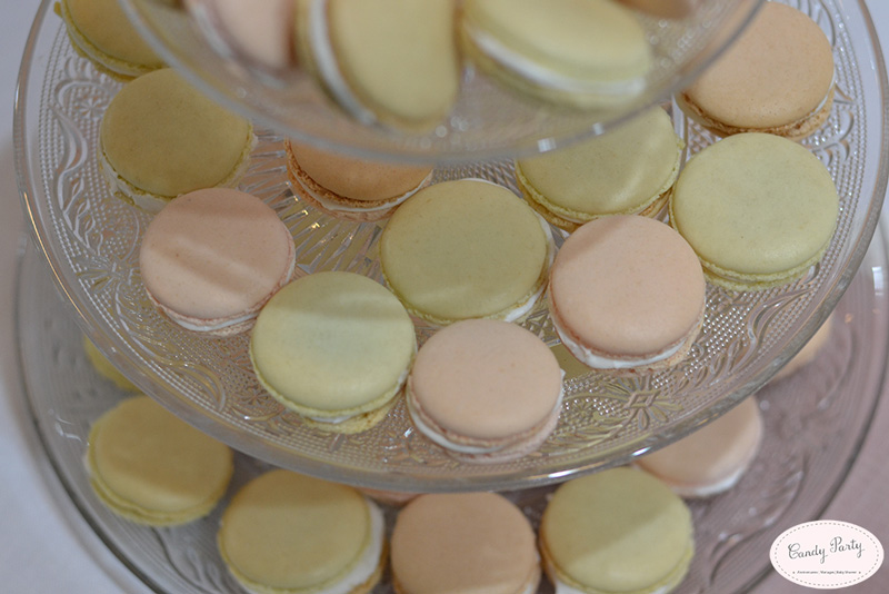 macarons sweet table shabby chic