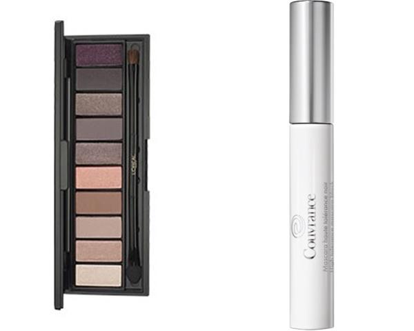 L'Oréal Paris, Color Riche La Palette, Prix : 24,90 € et NudeMascara Couvrance Haute Tolérance Noir, Prix : 12 €