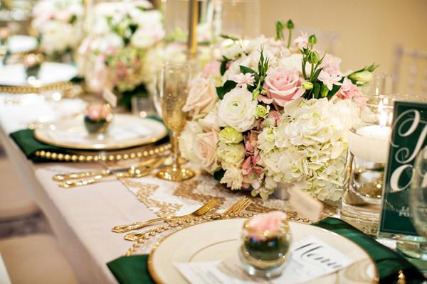 mariage emeraude tables