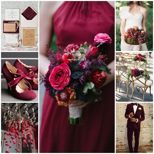 La couleur marsala parfaite pour un mariage chic et printanier - Couleur mariage 2017 ...