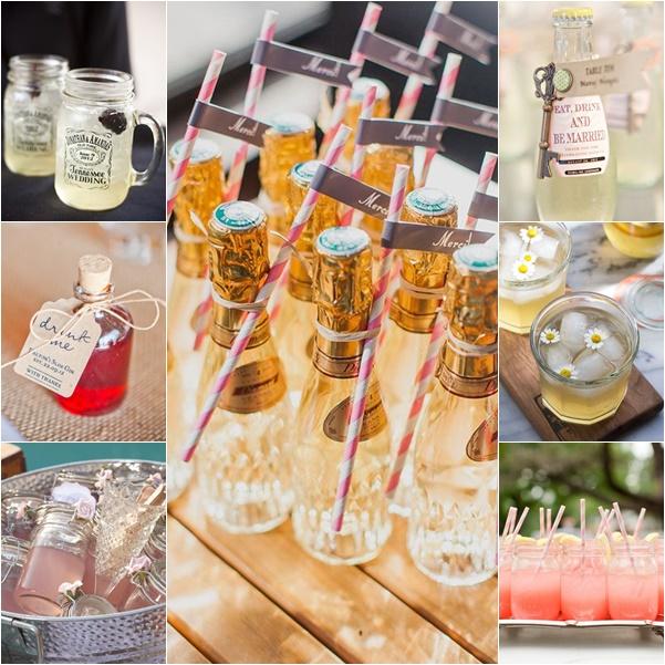 montage contenants boissons mariage