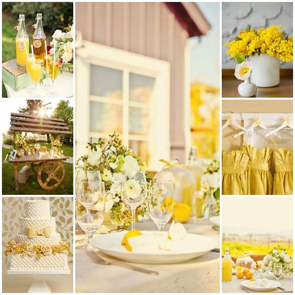 montage mariage theme mimosa