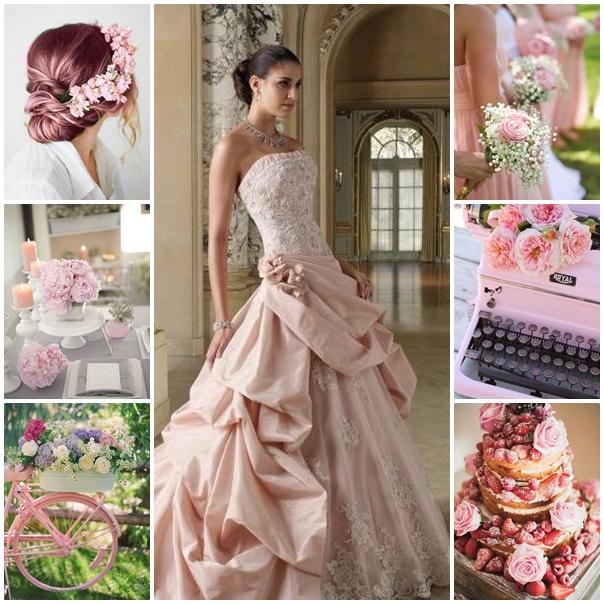montage mon mariage en rose poudre