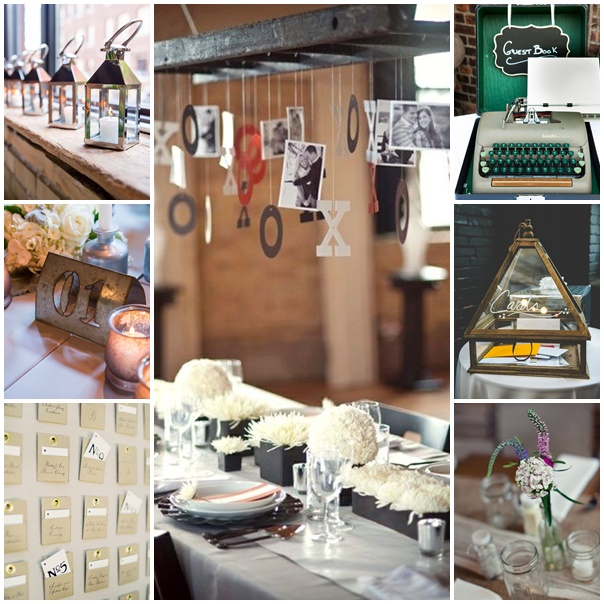 montage photos decoration mariage theme industriel