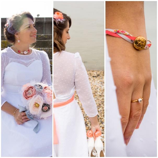 montage tenue de mariée mariage navy