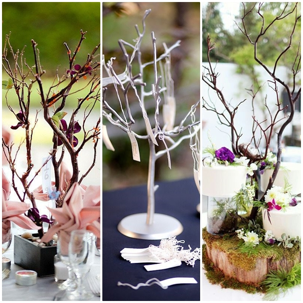 Utilisez de jolis bonzaïs décoratifs comme centre de table