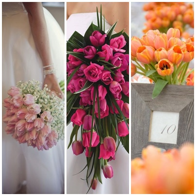montage tulipes mariage theme paques