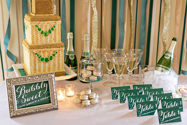 sweet table decoration emeraude