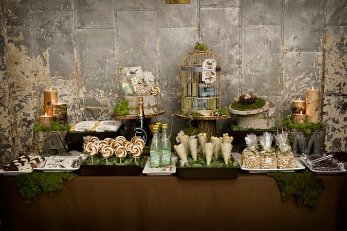 sweet table inspiration mariage industriel
