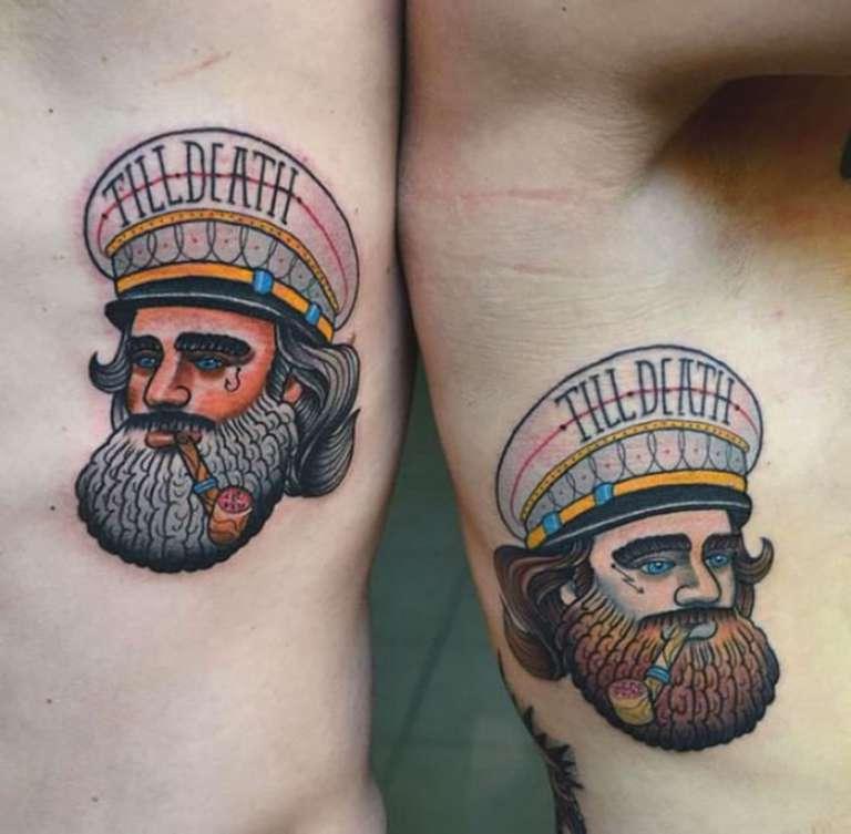 tatouage couple capitaine