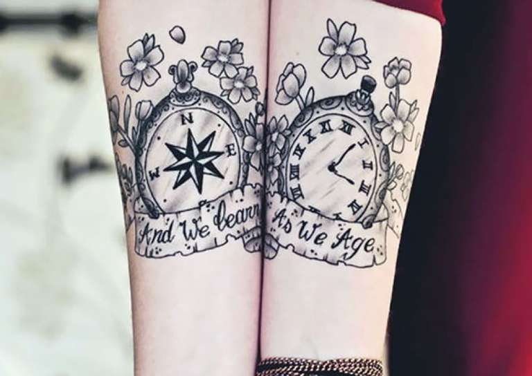 tatouage couple feerique