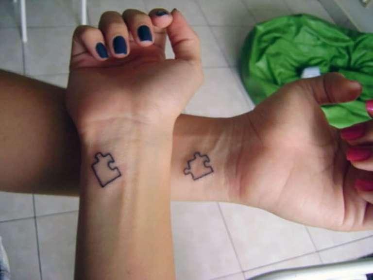 tatouage couples puzzle