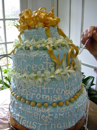 wedding cake de travers