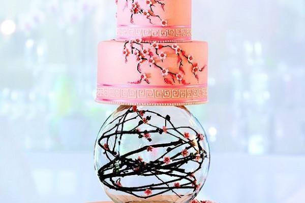 wedding cake pour un mariage de printemps