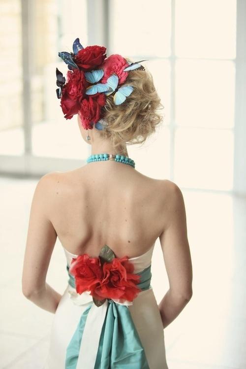 Coiffures de mariees papillons 1
