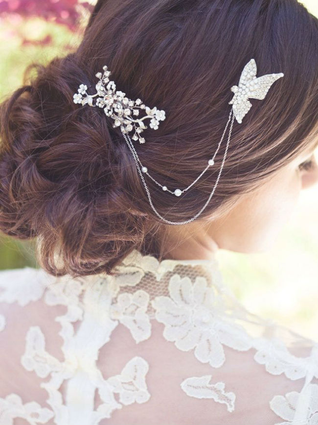 Coiffures de mariees papillons 8