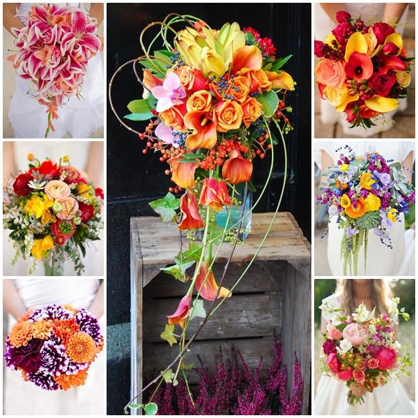 Montage bouquets de toutes les couleurs