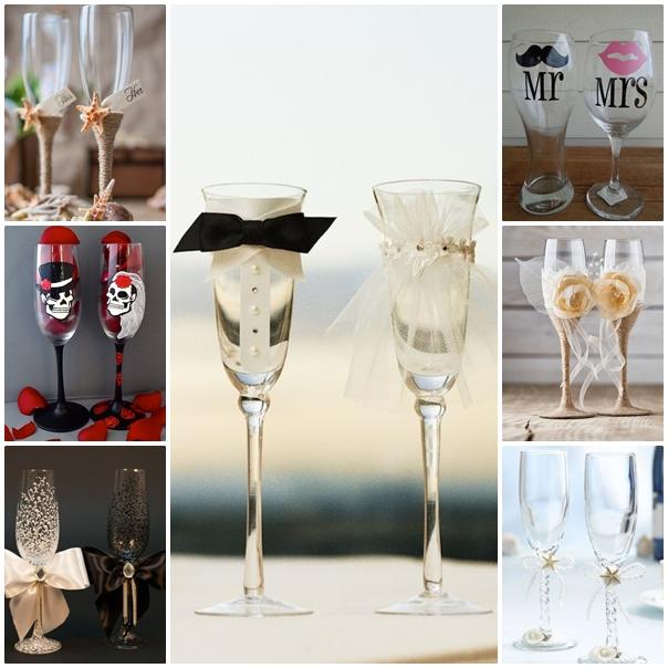 Montage coupes à champagne originales
