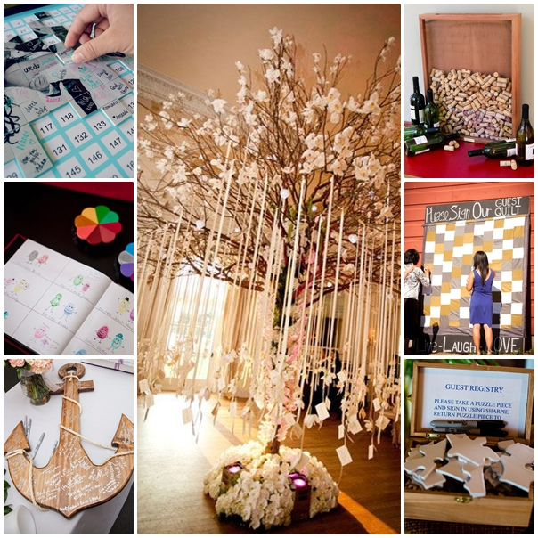Montage guest book