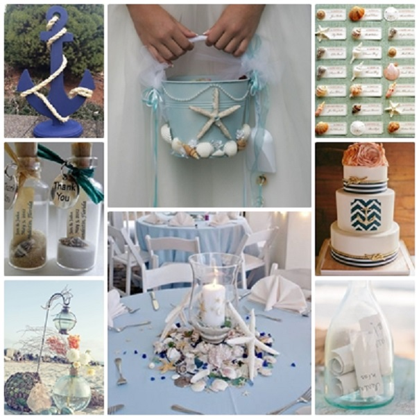 décoration à thème mariage mariage thème mer