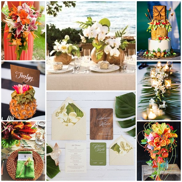 Montage mariage tropical