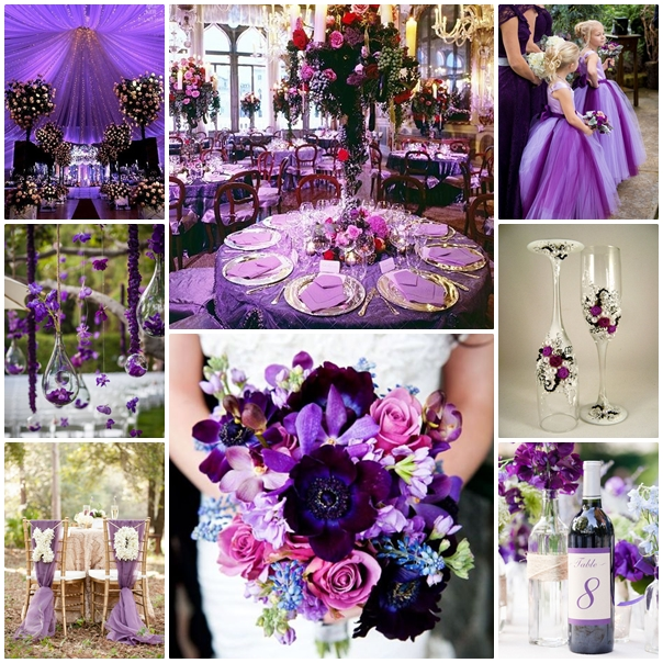 Montage mariage violet