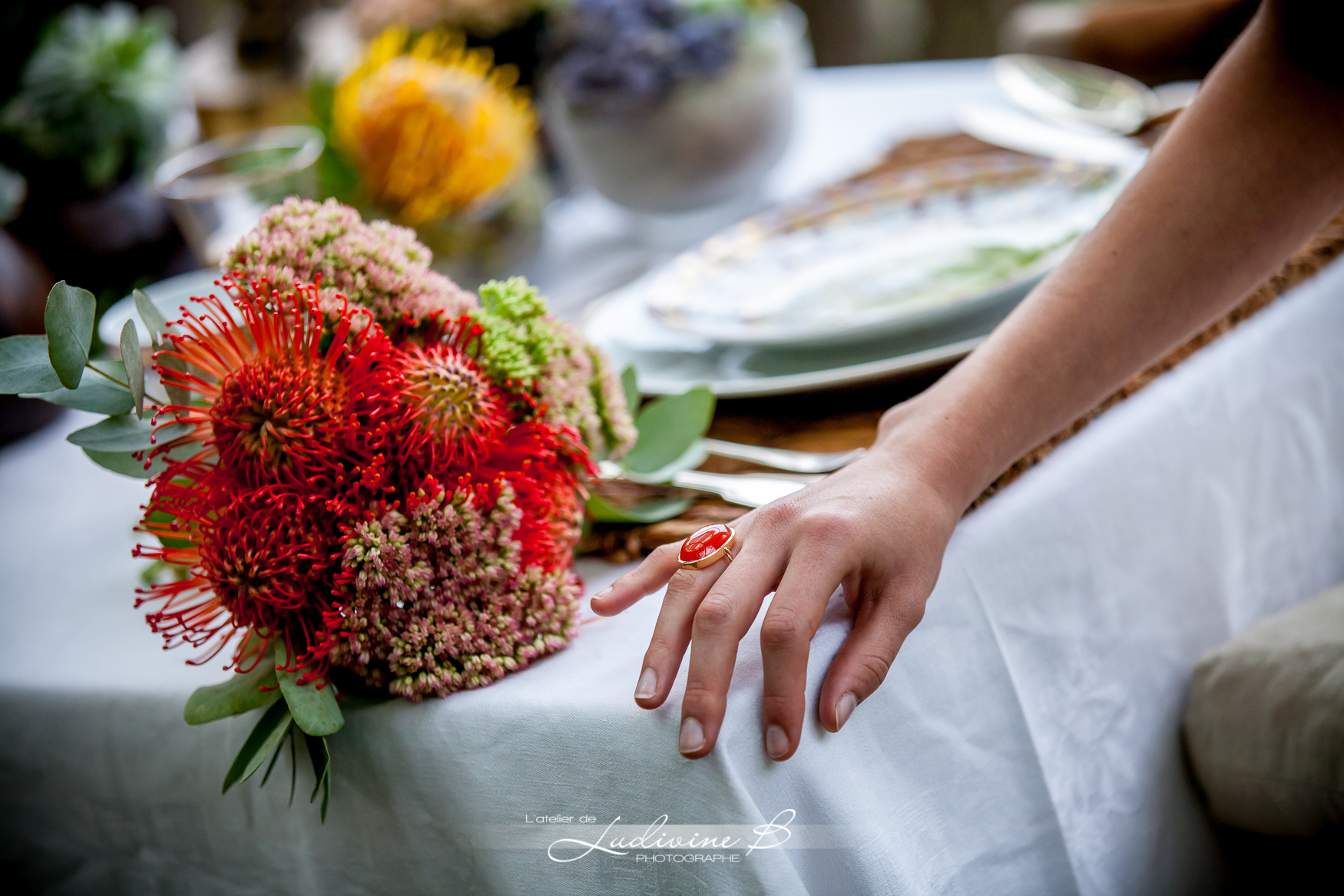 bouquet mariee theme africa