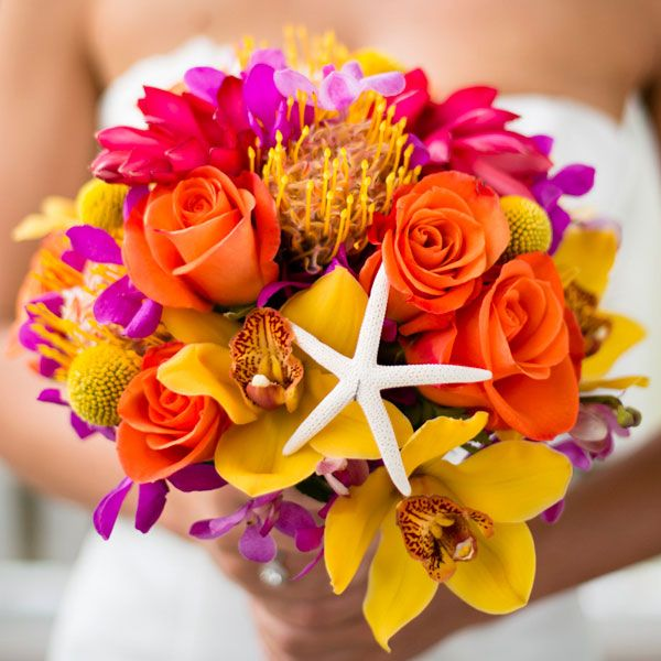 bouquet mariee theme plage
