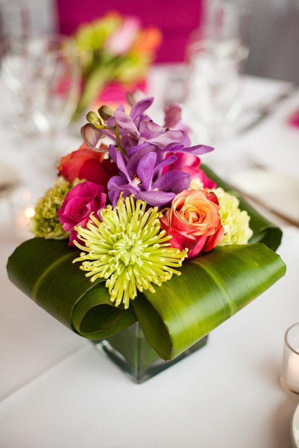 compositions florales mariage tropiques