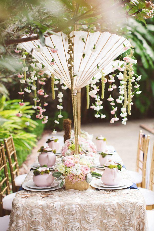 decoration de table mariage ambiance japon