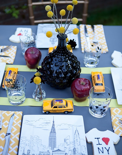 decoration de table mariage new york