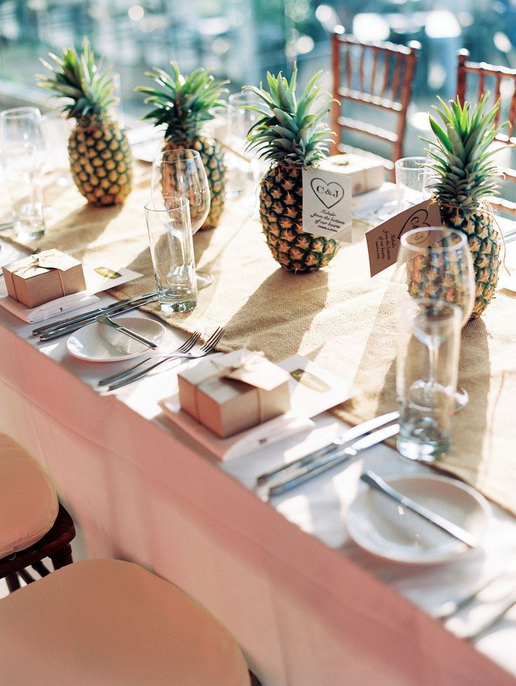 decoration de table tropical