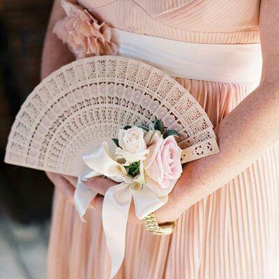 ombrelle ou éventail-mariage-rose