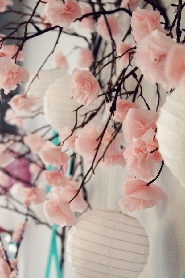 diy suspension mariage japonais. montage photo decoration mariage japonais