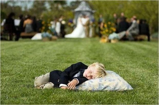 enfant endormi mariage