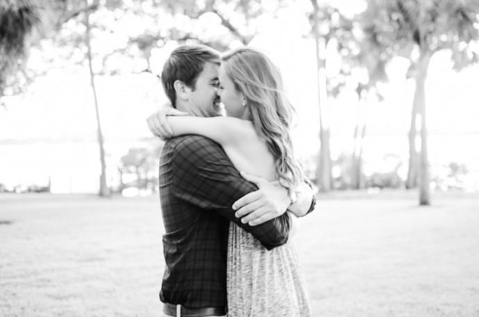 engagement mariage noir et blanc