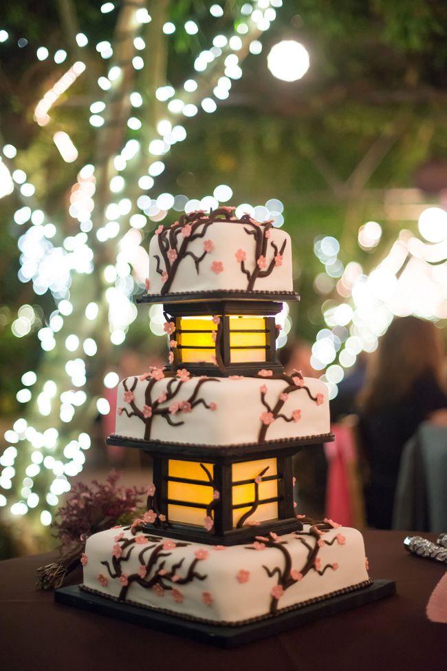 gateau de mariage theme japon
