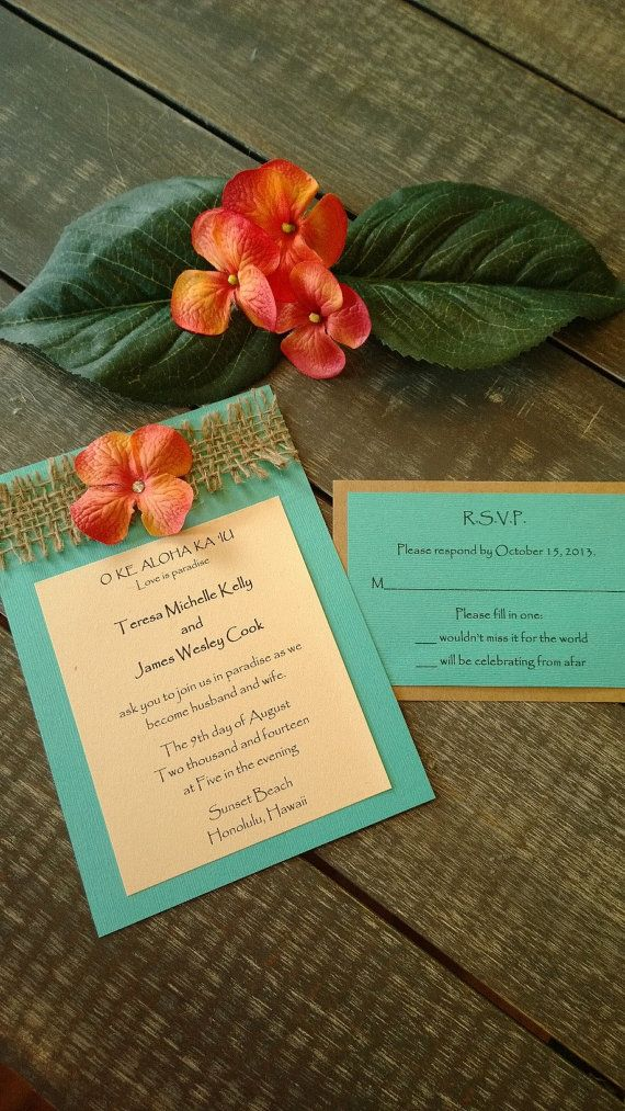 invitations mariage tropical