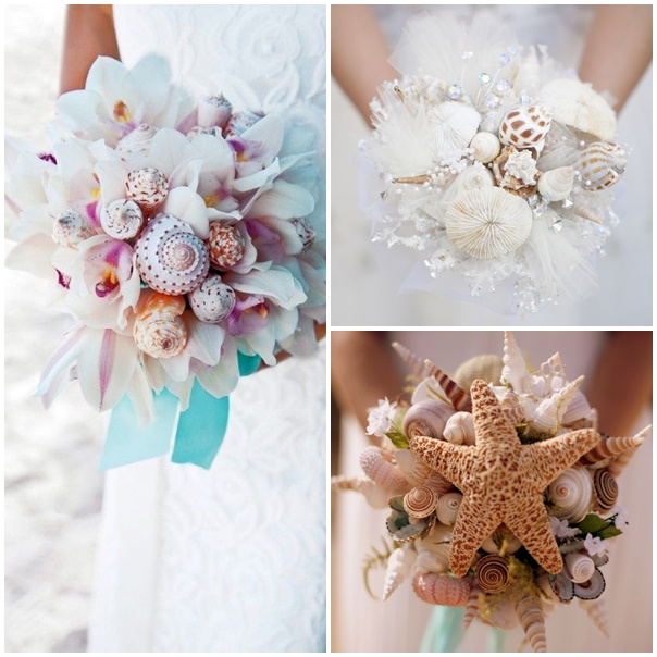 montage bouquet mariee mariage bord de mer