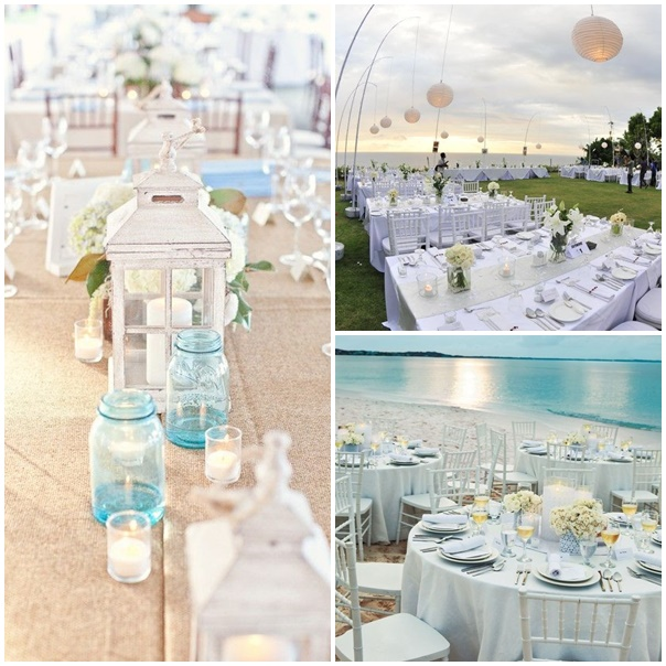 decoration table mariage theme plage