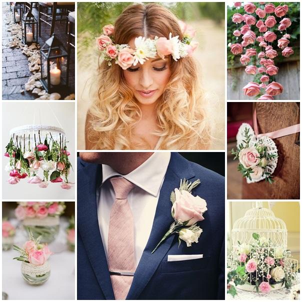 montage mariage rose