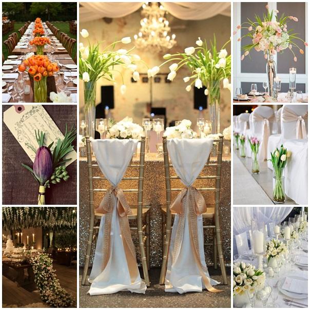 montage mariage theme tulipe