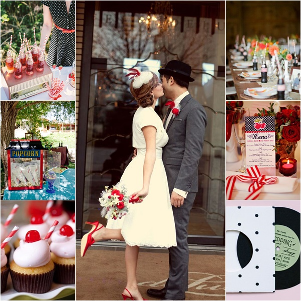 montage photo mariage theme annees 50