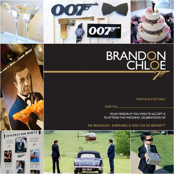 montage photo mariage theme james bond