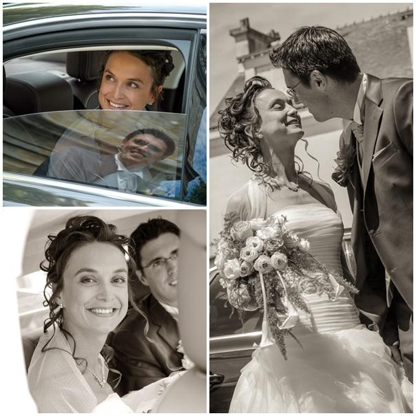 montage voiture mariage alexandra et julien