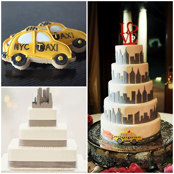 montage wedding cake mariage theme new york